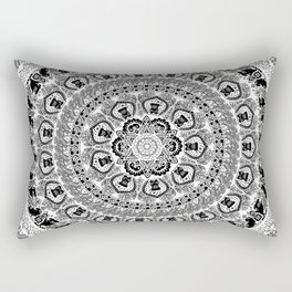 Black Pug Yoga Medallion Rectangular Pillow