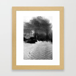 """He who sleeps in continual noise is wakened by silence."" – William Dean Howells Framed Art Print"