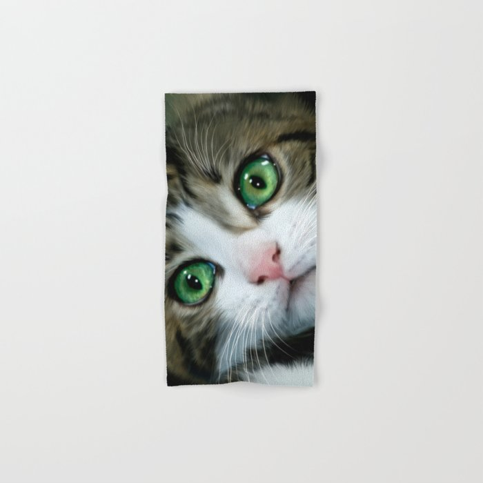 Kitty Cat Hand & Bath Towel