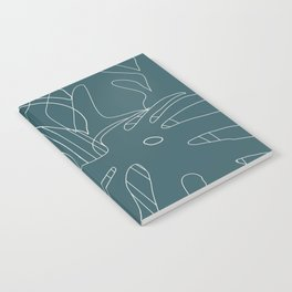 Monstera No2 Teal Notebook