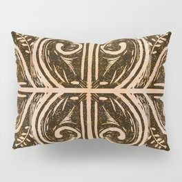 New Zealand koru fern lino cut Pillow Sham