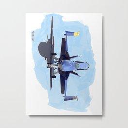 Blue Angels Super Hornet Metal Print