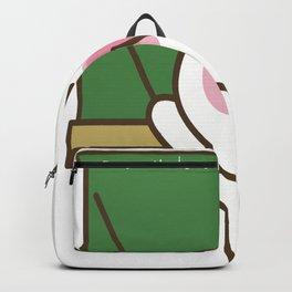 Bunny says don't become a teacher.  Funny sarcastic teacher design. Backpack