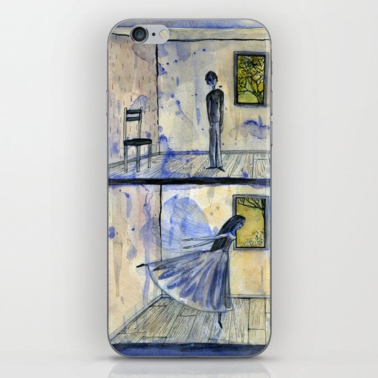 they were very lonely and had never met iPhone & iPod Skin