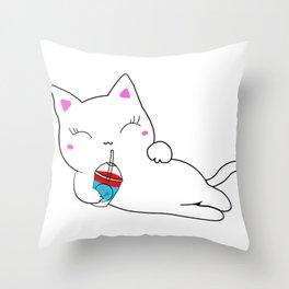 Sexy Kitty Throw Pillow