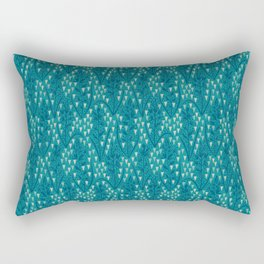 Botanical pattern with triangles and dots Rectangular Pillow
