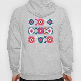 Kilim Abundance Pattern  - Blush & Teal Palette Hoody