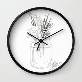 Succulents like to Cuddle Wall Clock