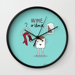 Wine O'clock Wall Clock