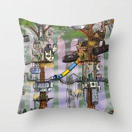 Modern Pixie Kingdom Throw Pillow