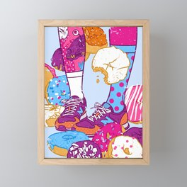 Don't step over donuts Framed Mini Art Print