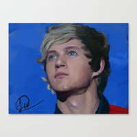 niall horan Canvas Prints featuring Niall Horan  by Tune In Apparel