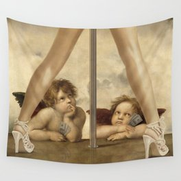 Not so Little Angels Wall Tapestry