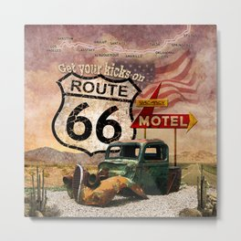 Get your Kicks on Route 66 Metal Print