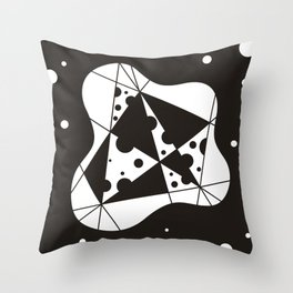 Sclerosis Black Throw Pillow