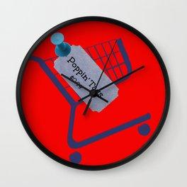 Poppin Tags-Thrift Shop Song-Macklemore Wall Clock