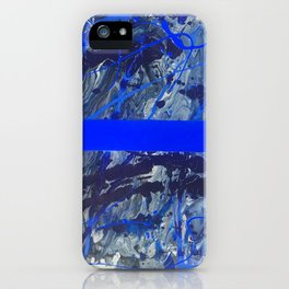 Blue Line of Sorrow iPhone Case