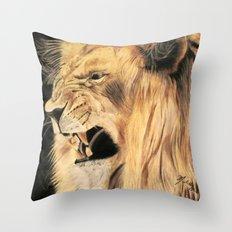 A Lion's Voice Throw Pillow