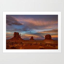 Oljato-Monument_Valley 0122 - Sunset Art Print