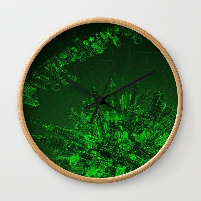 Future City Green Wall Clock