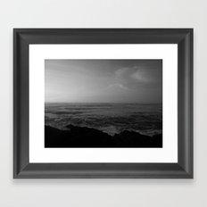 Fading Light, Rising Sea Framed Art Print