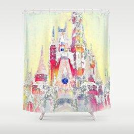 Snow Castle  Shower Curtain