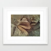 literature Framed Art Prints featuring  Literature 2 by Genevieve Moye