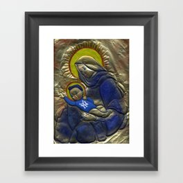 Jesus Was A Yankee's Fan Framed Art Print