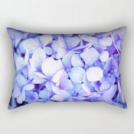 Periwinkle Hydrangea Flowers Rectangular Pillow
