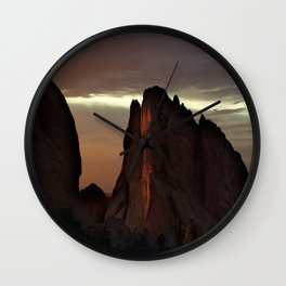 Sunrise at Garden of the Gods Wall Clock