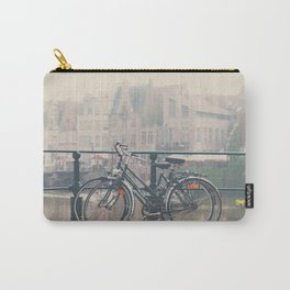 a bicycle date in Ghent Carry-All Pouch