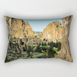 Rocks + River // Hiking Mountains Colorado Scenic View Landscape Photography Forest Backpacking Vibe Rectangular Pillow
