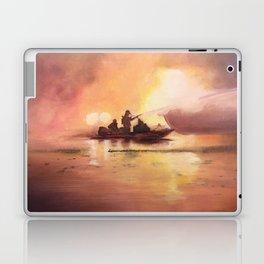 Marina Boat Fire - Fire Series Laptop & iPad Skin