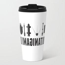 Beyond imagination: Space Shuttle postage stamp Travel Mug