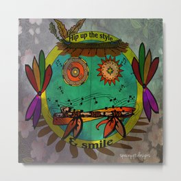 Hippie Smilie Metal Print