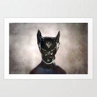 bat Art Prints featuring Bat by Giray Ötken