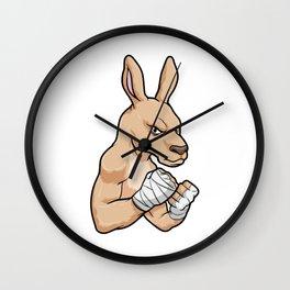 Kangaroo as Boxer at Boxing Wall Clock