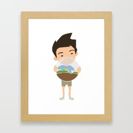 Boy Biosphere Framed Art Print