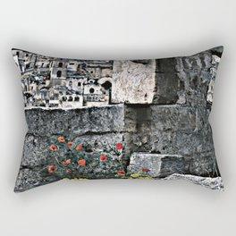 Sassi di Matera: stones and flowers Rectangular Pillow