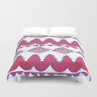 mexico Duvet Covers featuring Mexico by Hannah Martin