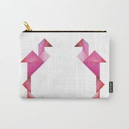 Tangram Flamingo Carry-All Pouch