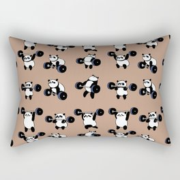 Olympic Lifting Panda Rectangular Pillow