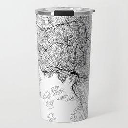 Oslo White Map Travel Mug
