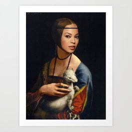 Bey Plays with the Family Ferret Art Print