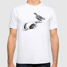Bird in the Hand MEDIUM Ash Grey Mens Fitted Tee