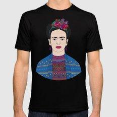 Frida Kahlo X-LARGE Mens Fitted Tee Black