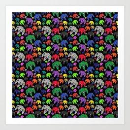 Nintendo 64 Flock of Controllers Art Print