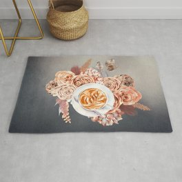 Morning Latte and Flowers Rug
