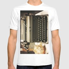 You never write... Mens Fitted Tee MEDIUM White