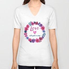 LOVE will find a way Unisex V-Neck